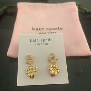 NWT Kate Spade flower earrings